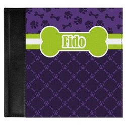 Pawprints & Bones Genuine Leather Baby Memory Book (Personalized)
