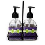 Pawprints & Bones Soap & Lotion Dispenser Set (Glass) (Personalized)