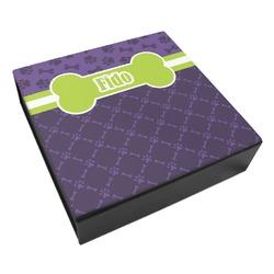 Pawprints & Bones Leatherette Keepsake Box - 3 Sizes (Personalized)