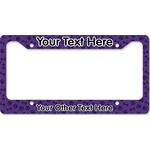 Pawprints & Bones License Plate Frame - Style B (Personalized)
