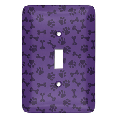 Pawprints & Bones Light Switch Covers - Multiple Toggle Options Available (Personalized)