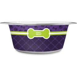 Pawprints & Bones Stainless Steel Dog Bowl (Personalized)
