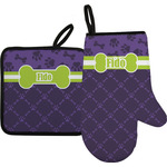 Pawprints & Bones Oven Mitt & Pot Holder (Personalized)