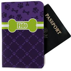 Pawprints & Bones Passport Holder - Fabric (Personalized)