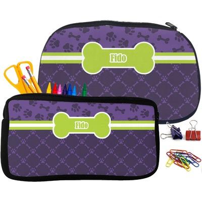 Pawprints & Bones Pencil / School Supplies Bag (Personalized)