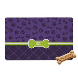Pawprints & Bones Pet Bowl Mat (Personalized)