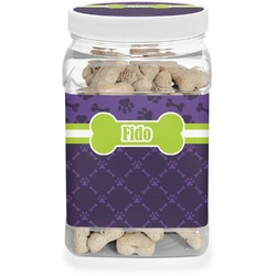 Pawprints & Bones Dog Treat Jar (Personalized)