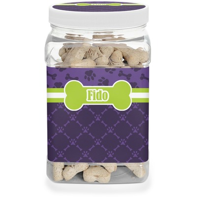 Pawprints & Bones Pet Treat Jar (Personalized)