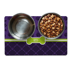 Pawprints & Bones Pet Bowl Mat (Personalized)