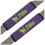 Pawprints & Bones Seat Belt Covers (Set of 2) (Personalized)