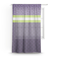 Pawprints & Bones Sheer Curtains (Personalized)