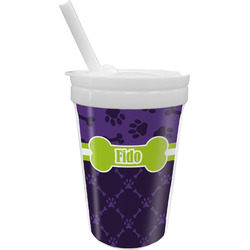 Pawprints & Bones Sippy Cup with Straw (Personalized)