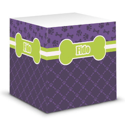 Pawprints & Bones Sticky Note Cube (Personalized)