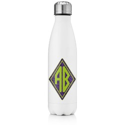 Pawprints & Bones Tapered Water Bottle - 17 oz. - Stainless Steel (Personalized)