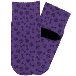 Pawprints & Bones Toddler Ankle Socks (Personalized)
