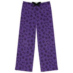 Pawprints & Bones Womens Pajama Pants - XL (Personalized)