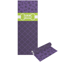 Pawprints & Bones Yoga Mat - Printable Front and Back (Personalized)