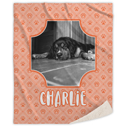 Pet Photo Sherpa Throw Blanket (Personalized)
