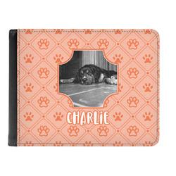 Pet Photo Genuine Leather Men's Bi-fold Wallet (Personalized)