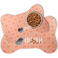 Pet Photo Bone Shaped Dog Food Mat (Personalized)