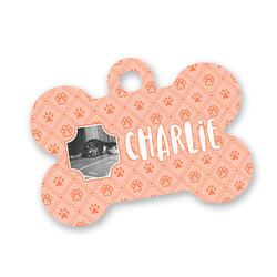 Pet Photo Bone Shaped Dog Tag (Personalized)