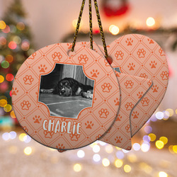 Pet Photo Ceramic Ornament - Double Sided