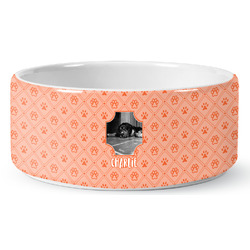 Pet Photo Ceramic Dog Bowl (Personalized)