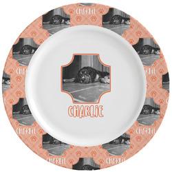 Pet Photo Ceramic Dinner Plates (Set of 4) (Personalized)