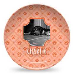 Pet Photo Microwave Safe Plastic Plate - Composite Polymer (Personalized)