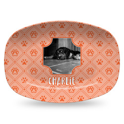 Pet Photo Plastic Platter - Microwave & Oven Safe Composite Polymer (Personalized)