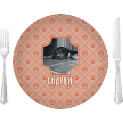 """Pet Photo 10"""" Glass Lunch / Dinner Plates - Single or Set (Personalized)"""