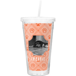 Pet Photo Double Wall Tumbler with Straw (Personalized)