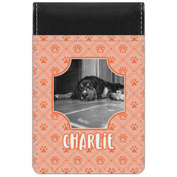 Pet Photo Genuine Leather Small Memo Pad (Personalized)