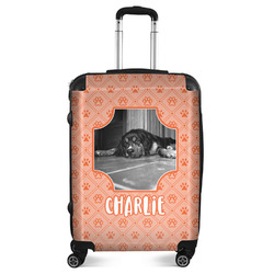 "Pet Photo Suitcase - 24""Medium - Checked (Personalized)"