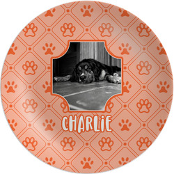 "Pet Photo Melamine Plate - 8"" (Personalized)"