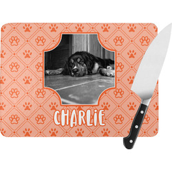 Pet Photo Rectangular Glass Cutting Board (Personalized)
