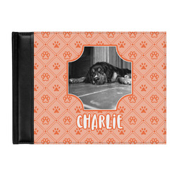 Pet Photo Genuine Leather Guest Book (Personalized)