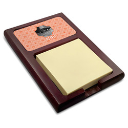 Pet Photo Red Mahogany Sticky Note Holder (Personalized)