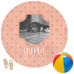Pet Photo Round Beach Towel (Personalized)