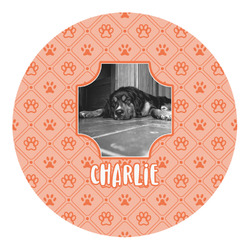 Pet Photo Round Decal (Personalized)