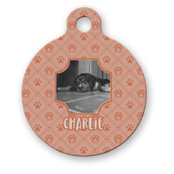 Pet Photo Round Pet Tag (Personalized)