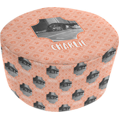 Pet Photo Round Pouf Ottoman (Personalized)