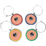 Pet Photo Wine Charms (Set of 4) (Personalized)