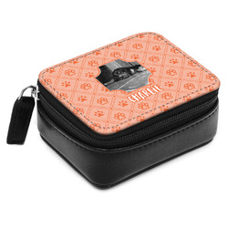Pet Photo Small Leatherette Travel Pill Case (Personalized)