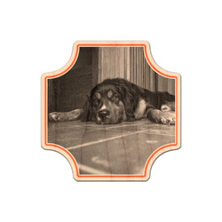 Pet Photo Genuine Maple or Cherry Wood Sticker (Personalized)