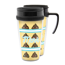 Poop Emoji Acrylic Travel Mugs (Personalized)