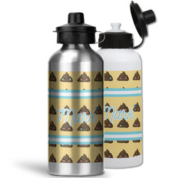 Poop Emoji Water Bottles- Aluminum (Personalized)