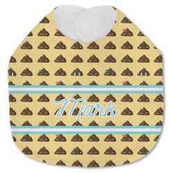 Poop Emoji Jersey Knit Baby Bib w/ Name or Text