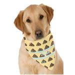 Poop Emoji Dog Bandana Scarf w/ Name or Text