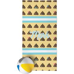 Poop Emoji Beach Towel (Personalized)